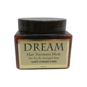 """מסכה מקצועית לשיער צבוע ופגום 500מ""""ל – דרים – Dream"""